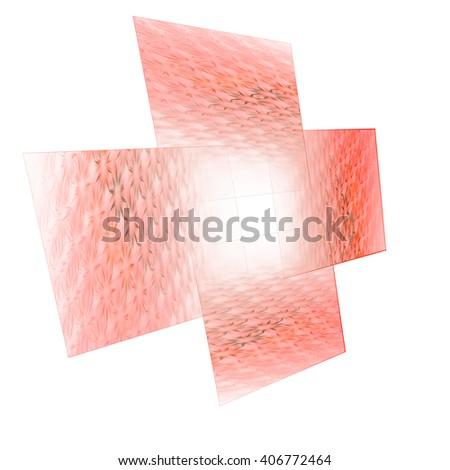 Squares with flowers, abstract background