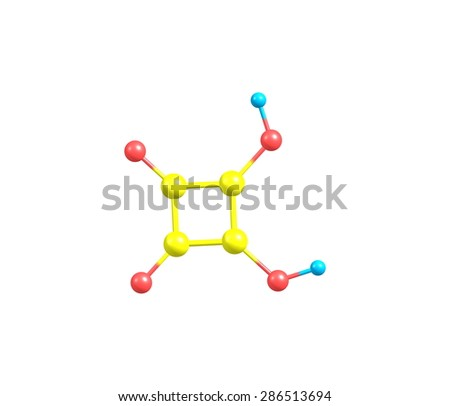 Squaric acid (quadratic acid), carbon atoms approximately form a square, is an organic compound with chemical formula C4H2O4