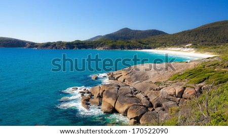 Squeaky Beach, Wilsons Promontory National Park, Victoria, Australia - stock photo