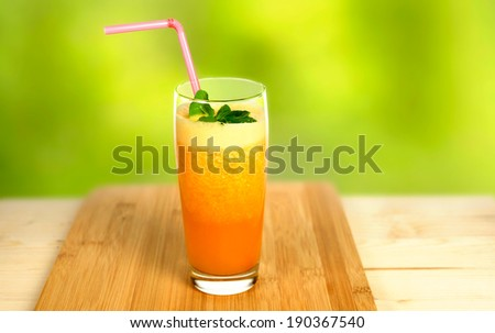 Squeezed juice - stock photo