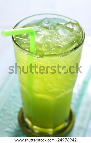 squeezed of lemongrass and pandanas drink, it's a beverage for health.