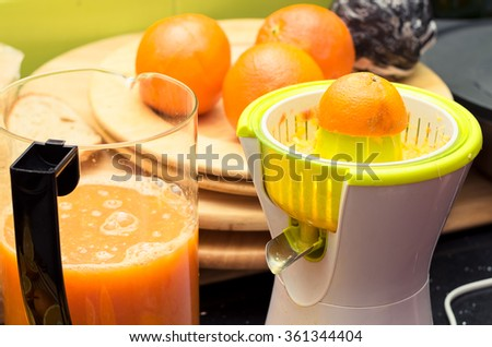 Squeezed orange juice