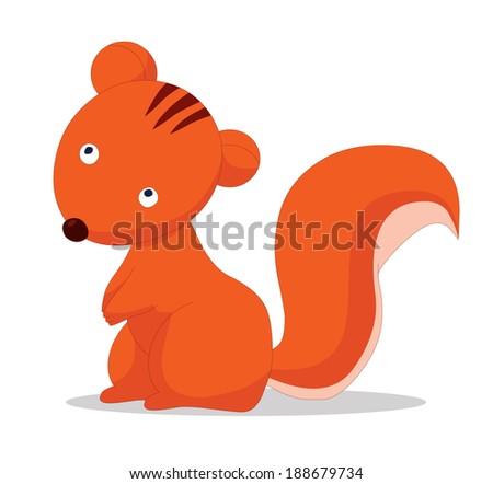 squirrels cartoon - stock photo