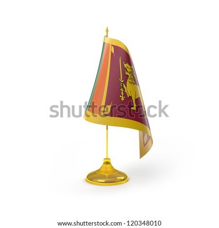 Sri Lanka Flag Detail Render - stock photo