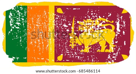 Sri Lanka flag grunge background. Background for design in country flag
