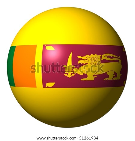 Sri Lanka flag sphere isolated on white illustration - stock photo