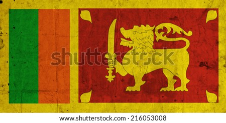 Sri Lanka grunge flag  - stock photo