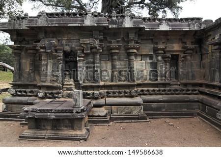 Sri-Lanka - Polonnaruwa - ancient capital of Ceylon - stock photo