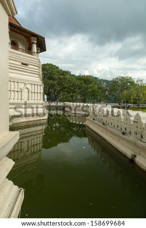 Sri Lanka. Temple of Tooth Relic in Kandy. - stock photo