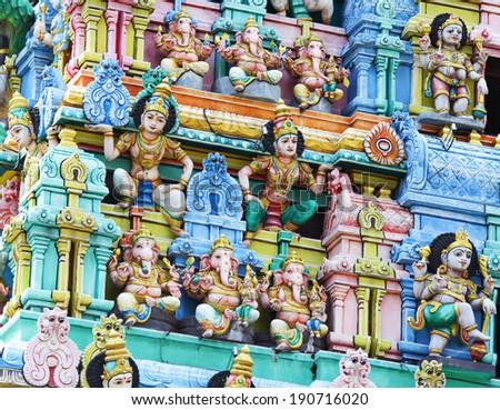 Sri Mariamman temple in Singapore - stock photo