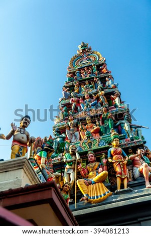 Sri Mariamman Temple. The oldest Hindu temple in Singapore, China Town