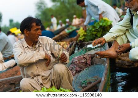 Srinagar Lake Dal Jammu Kashmir India Stock Photo ...