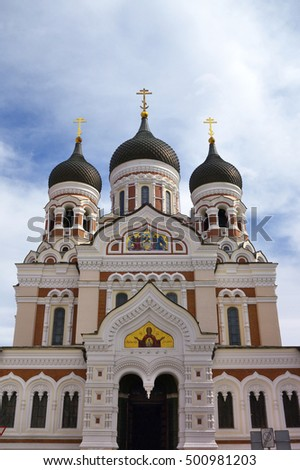 St. Alexander Nevsky´s Cathedral in Tallinn (Estonia), subordinated to the Patriarch of Moscow and All Russia.
