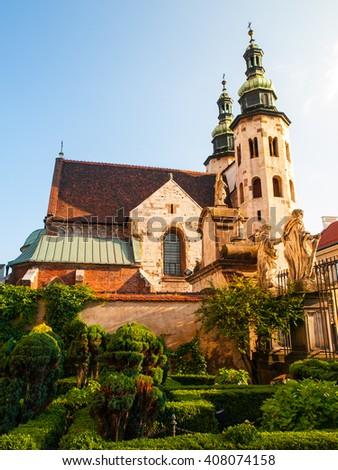 St Andrew church in Krakow - stock photo