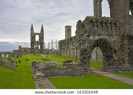 St Andrews cathedral, Scotland. - stock photo