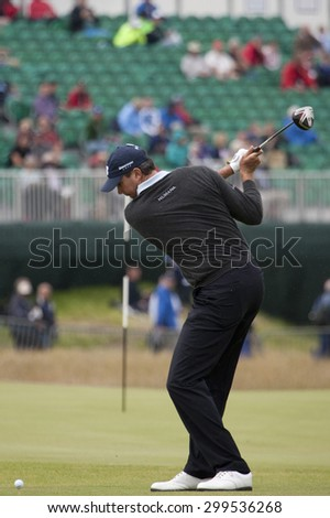 ST ANDREWS, SCOTLAND. July 15 2010: Matt KUCHAR from the USA in action on the first day of The Open Championship   played on The Royal and Ancient Old Course - stock photo