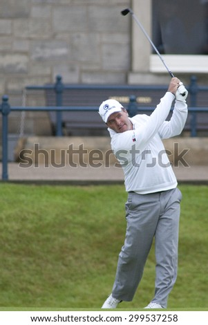 ST ANDREWS, SCOTLAND. July 15 2010: Thomas LEVET from France in action on the first day of The Open Championship   played on The Royal and Ancient Old Course