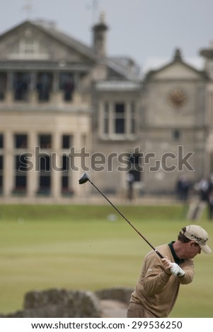 ST ANDREWS, SCOTLAND. July 15 2010: Tom WATSON from the USA in action on the first day of The Open Championship   played on The Royal and Ancient Old Course - stock photo