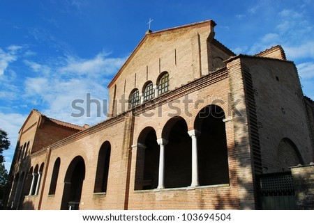 St. Apollinare in Classe basilica church, Ravenna, Italy - stock photo