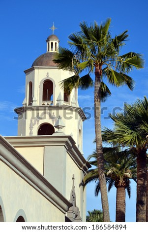 St. Augustine Cathedral Tucson - stock photo