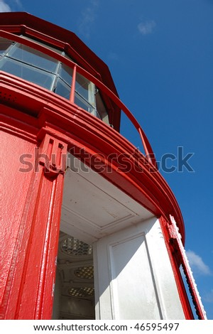 St Augustine Lighthouse Detail - stock photo