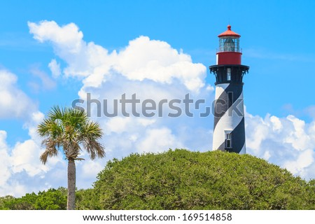 St. Augustine Lighthouse, Florida, USA - stock photo
