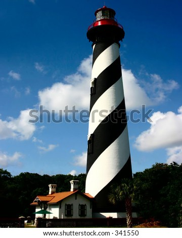 St. Augustine Lighthouse in St. Augustine, Florida - stock photo