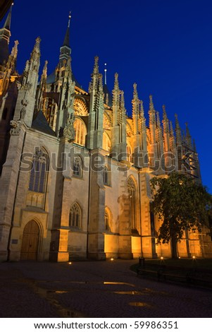 St. Barbara cathedral in Kutna Hora, Bohemia - stock photo