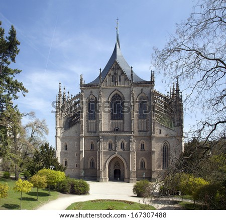 St. Barbara's Church in Kutna Hora, Czech Republic