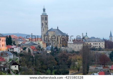 St. Barbara's Church in Kutna Hora - one of the most famous Gothic churches in central Europe, Czech Republic  - stock photo