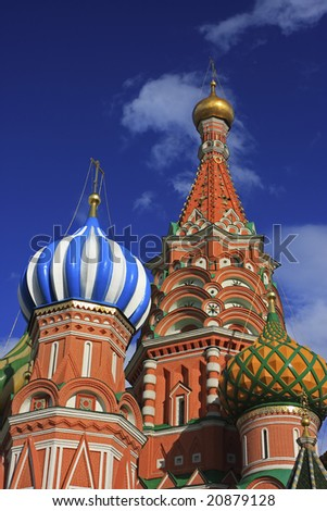 St. Basil Cathedral at Red Square in Moscow