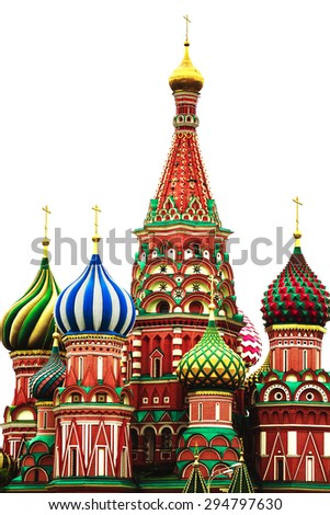 St. Basil's Cathedral. Red Square. Moscow.Russia - stock photo