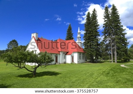 St-Bernard Chapel and grounds, Tremblant, Quebec.