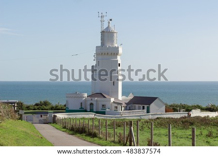 St Catherines Lighthouse on the Isle of Wight in the UK