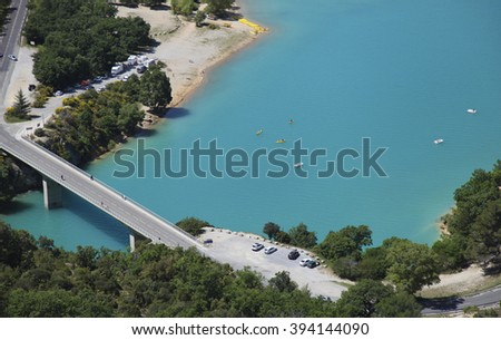 St Croix lake and Verdon River in France - stock photo