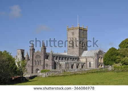 St David's Cathedral, Pembrokeshire, Wales, UK