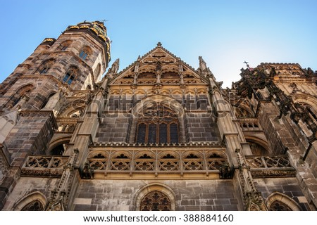 St. Elisabeth Cathedral high gothic facade built in 1378 in Kosice
