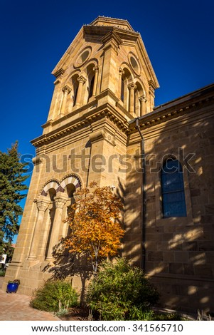 St. Francis Cathedral New Mexico - stock photo