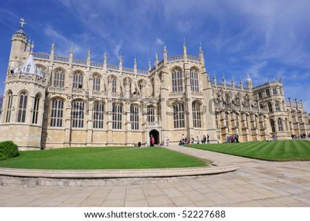 St. George Chapel at Windsor Castle, UK - stock photo