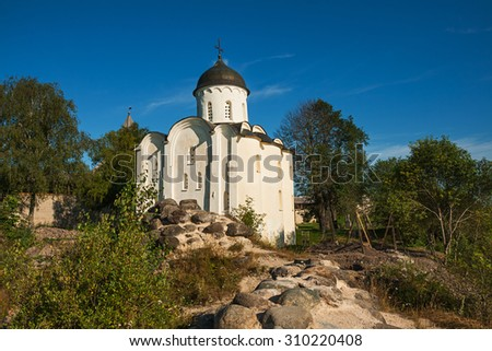 St. George's Church in the Staraya Ladoga Fortress - stock photo