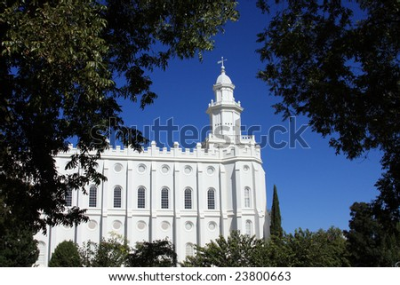 St. George, Utah LDS (Mormon) Temple - stock photo