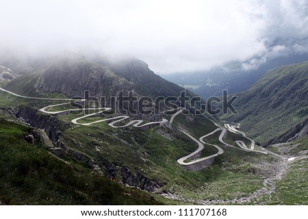 St Gotthard Pass - stock photo