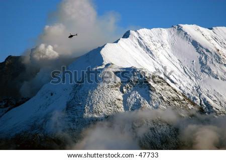 St. Helens eruption - stock photo