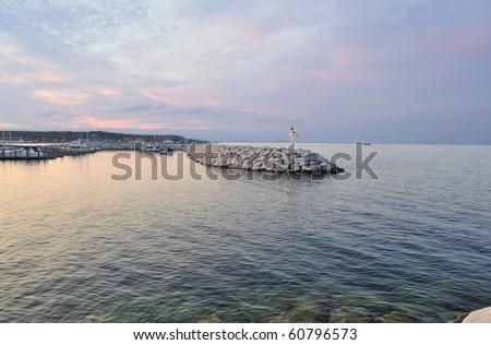 St. Ignace marina.Michigan - stock photo