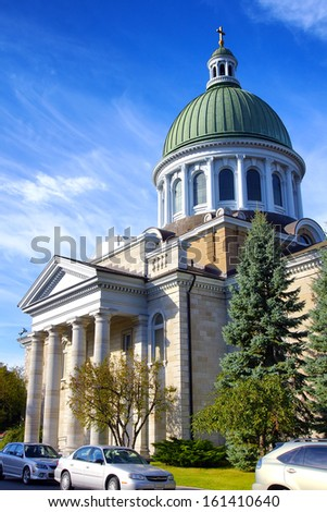 St. James Anglican Church Kingston Ontario Canada  on a summer day 19th century - stock photo