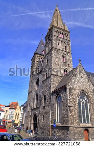St James church (Sint-Jacobskerk) in the old town of Ghent, Belgium