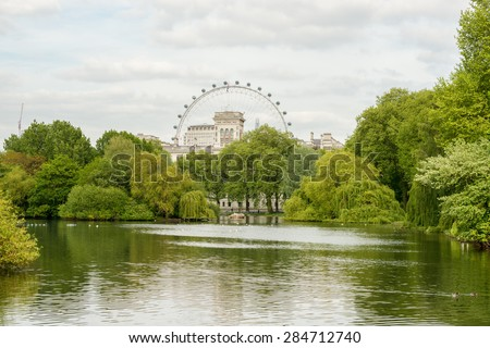 St James Park at London. - stock photo