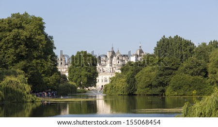 St James Park Cityscape in London UK - stock photo