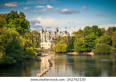 St james park in London, UK - stock photo