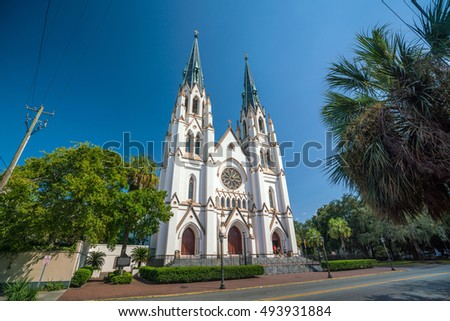 St John the Baptist Cathedral in Savannah Georgia, USA
